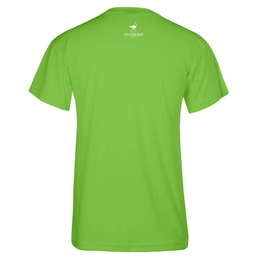 "STELZENEGGER - Performance T-Shirt ""Classic-Line"" neon grün"